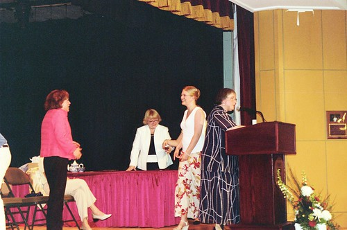 On Stage at the Ceremony