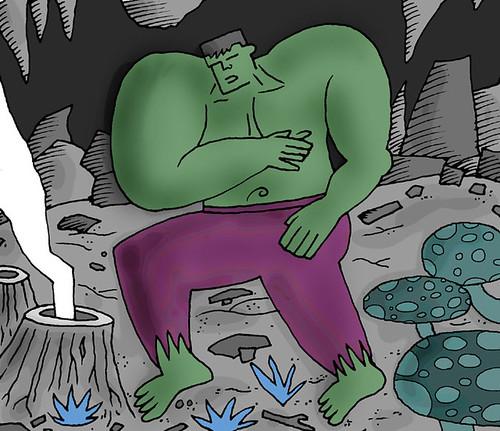 Hulk at Earth's Core