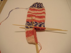 flag sock heel
