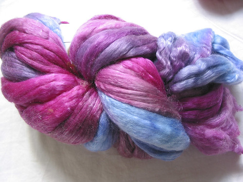 Blue Moon Fiber Arts, merino/tencel in Purple Rain