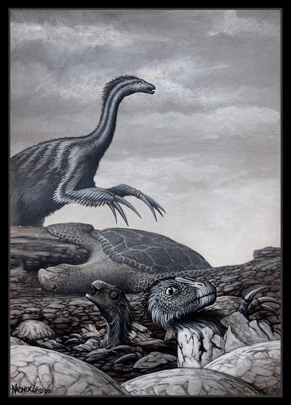Therizinosaur babies