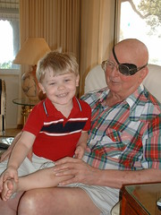 Matthew and 'Grandpa the Pirate'