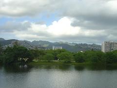Honululu - Ala Wai Canal / Mountains