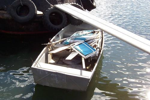 MV Gladstone's dingy Gosford Wharf