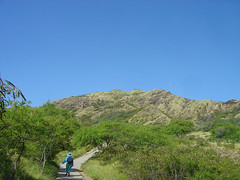 Way up Diamond Head
