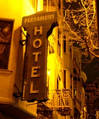 The Perramont Hotel's street sign