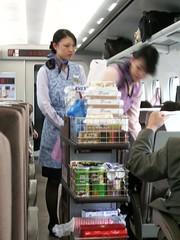 Azafatas en el Shinkansen