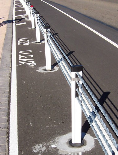 New crash barriers on Brisbane Water Drive