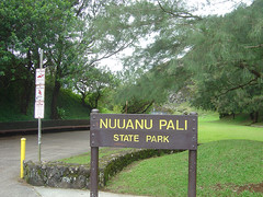 Nuuanu Pali State Park - Sign