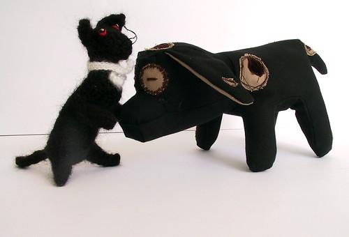 Cat Dog Sewn Together