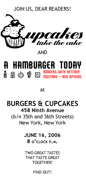 Burgers and Cupcakes June 16th