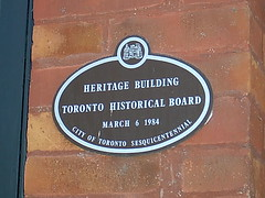 Toronto Historical Board Plaque
