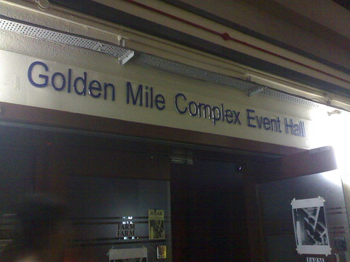 Inside Golden Mile complex, lurks an event hall