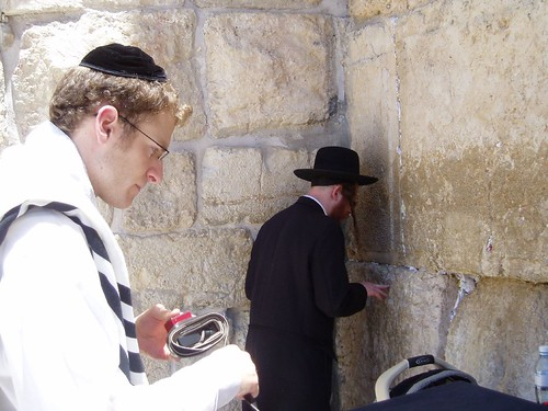 Jews praying at Wailing Wall