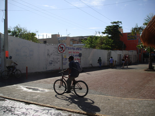 Bike Lane in Playa del Carmen