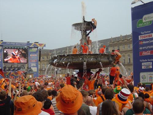 Die Holländer gehen baden