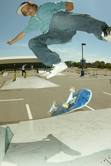 Roy - switch kickflip with Pete and a frontboard in the background