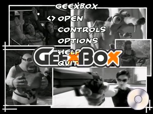 GeexBox menu