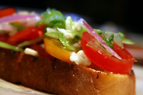 Tomato Salad on Grilled Bread