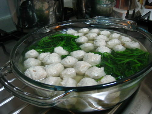 Handmade Fishball Soup With Watercress