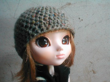 Basic Beanie for Pullip doll (will also fit Blythe) - CROCHET