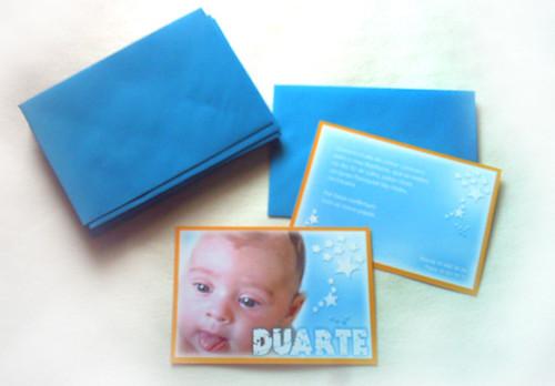 Convite Baptizado Estrela Duarte