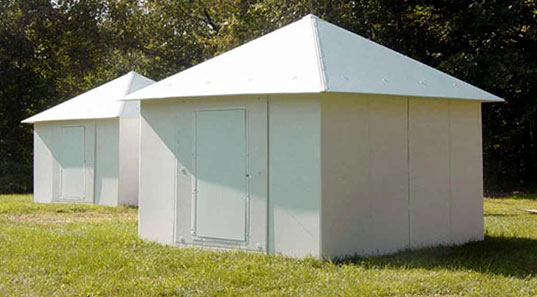 Global Village Shelters, Architecture for Humanity, Ferrara Designs, Prefab Friday, Grenada, Disaster Relief, Design Like You Give a Damn,