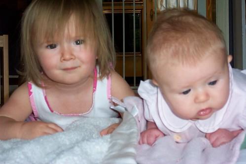 Celeste and Quinn Tummytime