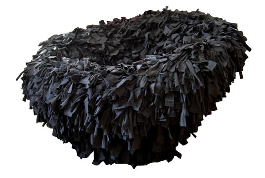 Emily Pilloton, Human Nest, Scrap Chair, Swarf Lamps, Scrap Fabric Chair
