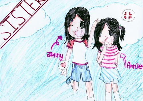 Jenny's 素描-姊妹情深