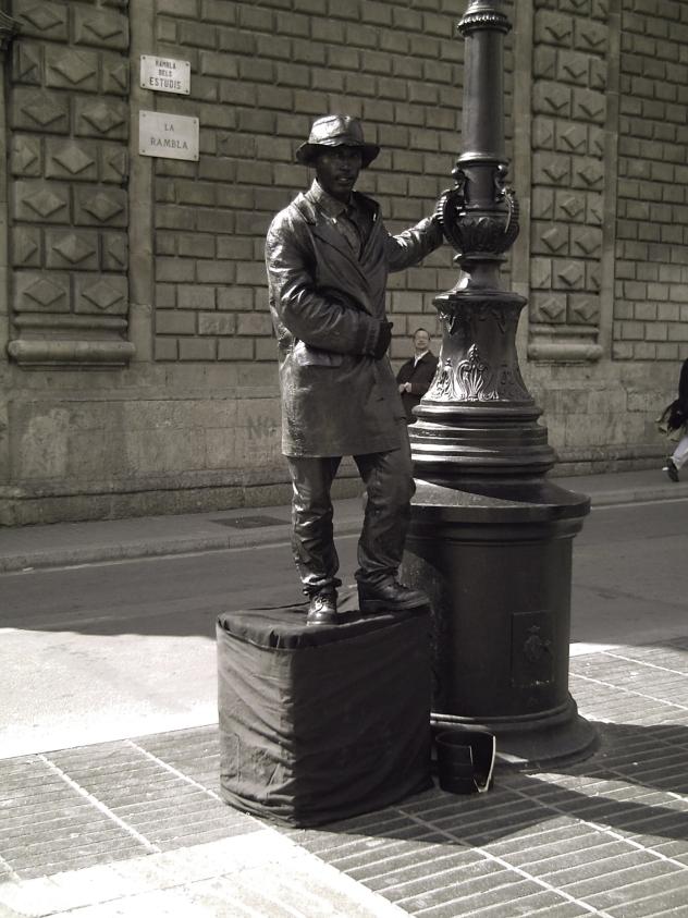 Street Artist XII at Las Ramblas Barcelona