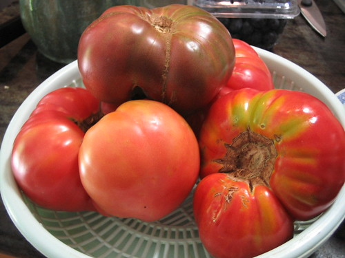 farmer's market heirloom tomatoes