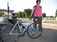 Katie and her Bianchi San Jose