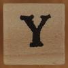 Stamp letter Y