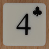 Playing Card Tile 4 of Clubs