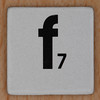 Word Game letter f