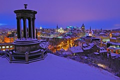 Edinburgh in the snow photo by VisitScotland