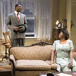 Kelvin Roston Jr. (Husband) and Cheryl Lynn Bruce (Elizabeth) in THE OLD SETTLER at Writers Theatre. Photos by Michael Brosilow.