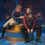 Samuel Ashdown (Philiste) and Michael Perez (Alcippe) in THE LIAR at Writers Theatre. Photo by Michael Brosilow.