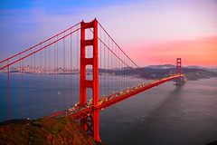 Golden Gate Bridge at Sunset - San Francisco California photo by mbell1975