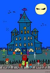 Supa Pewee Kids Happy Halloween Haunted House B-Pop Mason Pumpkin Kat Chu Dog Cat Monster Wolf Costume Anime Manga  Crafts Costume Pie Monster Movie Mask Fandom Fantasy Kawaii Bok Manhua Kodomo Poster Makeup Kits Masks Toy Candy Cookies Trick Treat photo by jennytomil