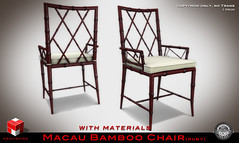 """  MESHWORX   - """"Macau Bamboo Collection"""" Tables and Chairs [ Ruby ] exclusively at FaMeshed through August 2013 photo by MESHWORX [Loz Hyde]"""