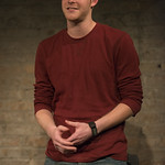 Rob Fenton (Kevin) in PORT AUTHORITY at Writers Theatre. Photo by Michael Brosilow.
