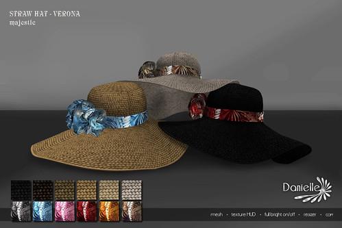 DANIELLE Straw Hat Verona Majestic