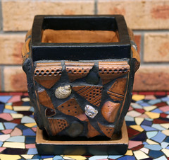 multi media mosaic pot photo by L4leather
