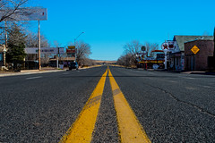 Middle of the Road | Route 66 - Seligman, Arizona photo by londondesigner.com