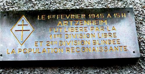 Artzenheim Plaque Alain OTT