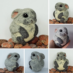Netherlands Dwarf Rabbit, needle felted wool toy photo by woolroommate