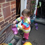 Amy filling the watering can<br/>06 Oct 2013