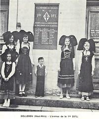 Franche Comté - Plaque aux Morts pour la France du BM XI à Dolleren